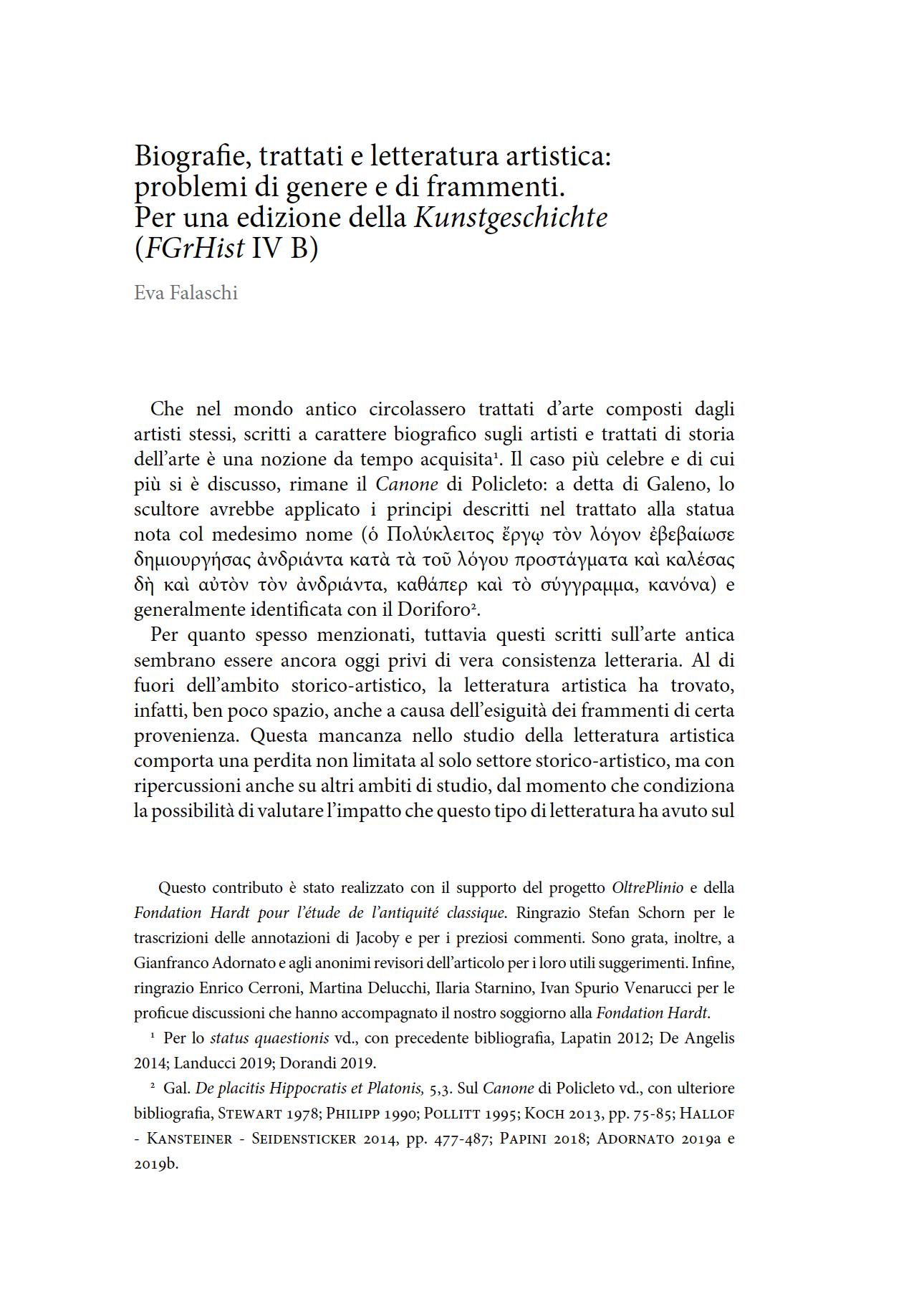 Greek artists, Biography, Artistic Literature