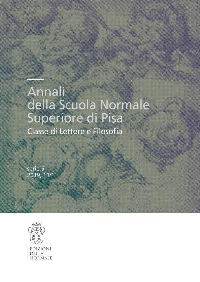 V Serie, Vol. 11, Fasc. 1, Studi e ricerche