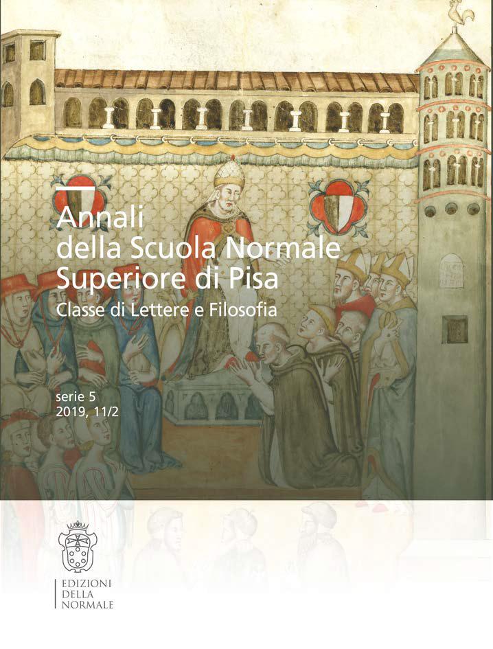 V Serie, Vol. 11, Fasc. 2, Forme e funzioni dell'esegesi nel Rinascimento