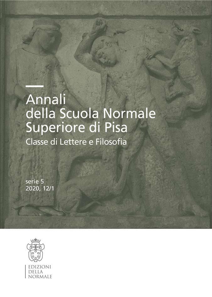 V Serie, Vol. 12, Fasc. 1, Studi e ricerche