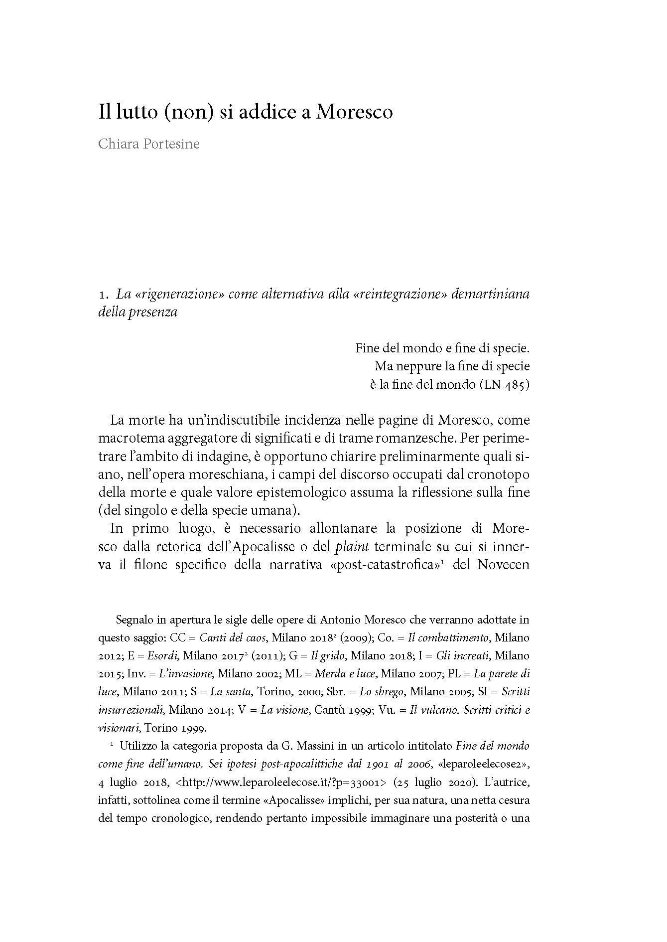 Il lutto (non) si addice a Moresco